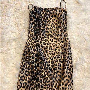 MINI Cheetah silk dress